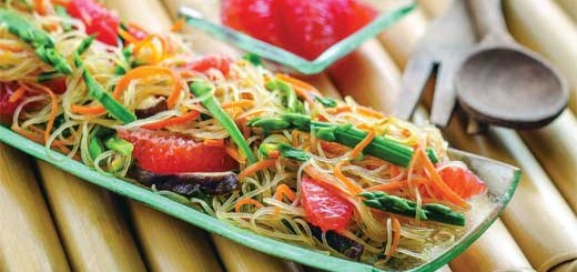 Korean Glass Noodles with Florida Grapefruit