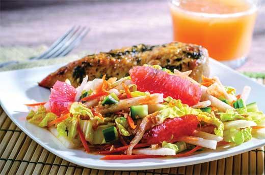 Florida Grapefruit and Jicama Vietnamese Salad