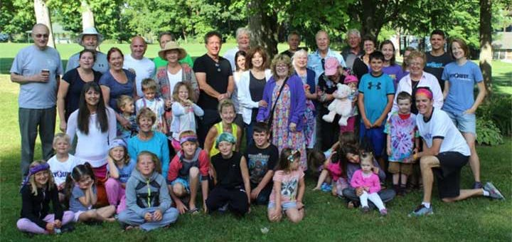 The Grandparent Camp, 2015 troop at the camp's site at Lakefield College School in Selwyn, Ontario.