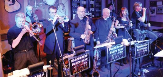 The Blackboard Blues Band is seen here getting the party started at one of their events.